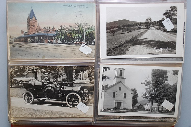 ALBUM W/ (174) MISC. POSTCARDS