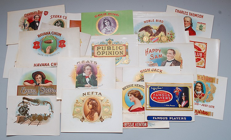 (30) MISC. CIGAR BOX LABELS