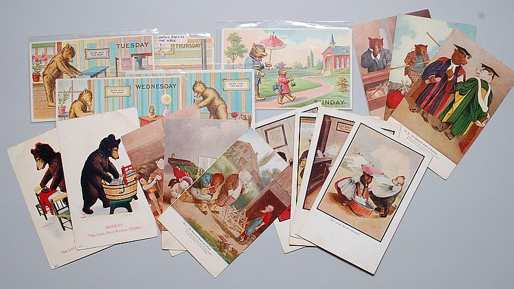 (17) MISC. EARLY 20TH CENT. TEDDY BEARS POSTCARDS