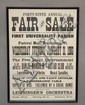 FRAMED 1900 NEW YEARS EVE BRATTLEBORO VERMONT CHURCH FAIR & SALE ADVERTISING BROADSIDE