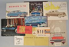 (2) MISC. 1950'S AUTOMOBILE ADVERTISING BROCHURES AND PUBLICATIONS