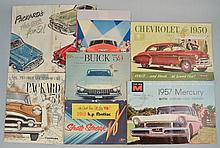 (20) MISC. 1950'S AUTOMOBILE ADVERTISING BROCHURES AND PUBLICATIONS