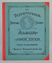 1928 INTERNATIONAL POSTAGE STAMP ALBUM - JUNIOR EDITION WITH STAMPS