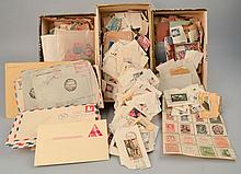 LOT OF MISC. U.S. AND FOREIGN POSTAGE STAMPS