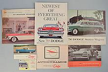 (20) MISC. 1950'S DODGE AUTOMOBILE ADVERTISING BROCHURES AND PUBLICATIONS
