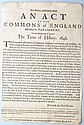1648 BRITISH TERM OF HILLARY BROADSIDE