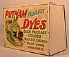 VINTAGE TIN LITHOGRAPH PUTNAM DYES ADVERTISING COUNTER TOP STORE CABINET