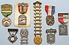 COLLECTION OF (8) MISC. MARKSMANSHIP AWARDS MEDALS INC. CALIFORNIA