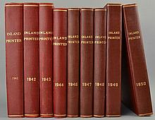 The Inland Printer - The Leading Business and Technical Journal of The World in the Printing and Allied Industries, Edited by J. L. Frazier - 9 Volumes of Bound Issues