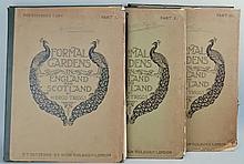 Formal Gardens in England and Scotland, Their Planning and Arrangement, Architectural and Ornamental Features by H. Inigo Triggs - 3 Elephant Portfolios  [ASSOCIATION COPY]