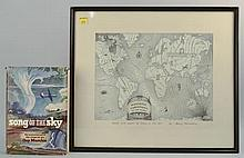 Song of the Sky by Guy Murchie, WITH ORIGINAL SIGNED, FRAMED ART