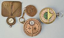 (3) 19TH CENT. & EARLY 20TH CENT. SUNDIAL COMPASSES