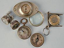 (5) MISC. 19TH CENT. - EARLY 20TH CENT. MINIATURE COMPASSES INC. JEWELRY