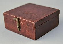 EARLY 19TH CENT. ENGLISH WOODEN CASED COMPASS LABELED THOMPSON OPTICIAN - BREAD ROW - YARMOUTH