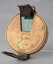 19TH CENT. ENGLISH MAJOR HUTCHINSON'S IMPROVED PRISMATIC SIGHTING COMPASS