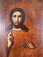 Antique Russian Hand Painted Jesus Icon