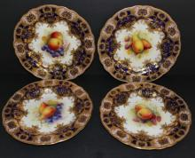 Antique Royal Worcester Tiffany Albert Shuck Plates