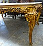 White Marble Top Gilded Center Table