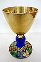 Antique 800 German Enamel & Gold Wash Chalice