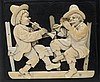 Finely Carved Continental Ivory Plaque