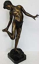 Annibale De Lotto Bronze Fisherboy Sculpture