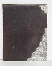 Antique European Sterling Silver & Leather Book Cover