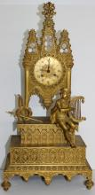 Impressive French Bronze Figural Mantel Clock