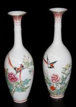 Fine Chinese Famille Rose Egg Small Vase