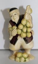 19th C. Japanese Carved Ivory Polychrome Figure