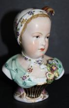 Early Dresden Porcelain Young Child Bust