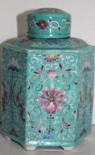 19th C. Antique Chinese Porcelain Tea Canister