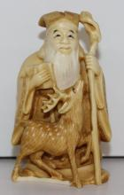 19th C. Japanese Carved Ivory Figure