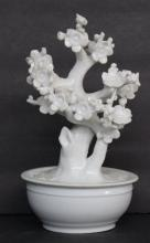Antique Chinese Blanc de Chine Porcelain Plant