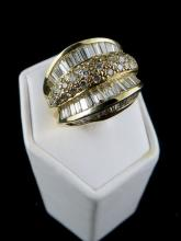 14Kt YG 3.50ct Diamond Men's Ring