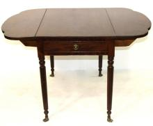 Antique American Lion Footed Card Table