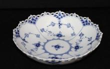 Royal Copenhagen Blue Fluted Full Lace Porcelain Bowl