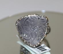 18Kt & Sterling Rose Quartz Ring