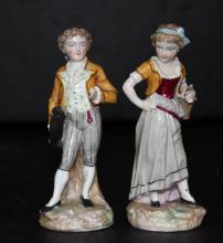 Pair of European Porcelain Figures