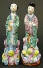 Pair of Chinese Porcelain Quan Yins