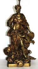 After G. Coustou (French 1677-1746) Group Bronze Lamp