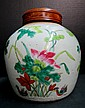 Antique Chinese Hand Painted Ginger Jar
