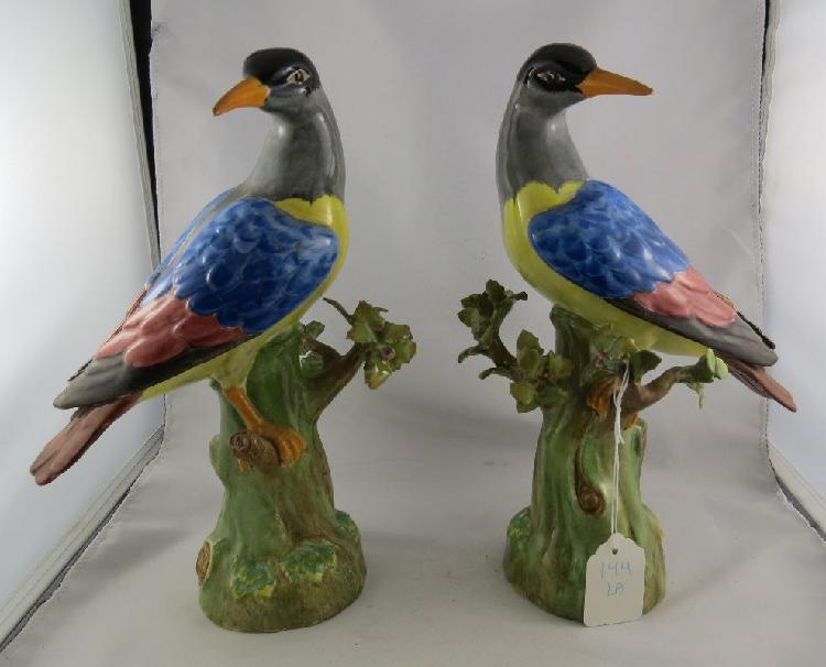 Pair of Copeland Spite Porcelain Figures of Birds