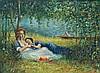 Philip Corley (Irish/American) Born 1944 Oil Painting on Board