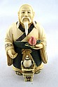 Chinese Hand Carved Polychrome Ivory Figure