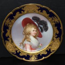 Impressive Dresden Portrait Plate