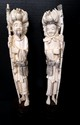Pair Antique Chinese Hand Carved Ivory Figures