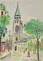 Maurice Utrillo, French (1883-1955) Circa 1955 Color Lithograph