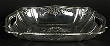 Antique Continental 800 Silver Pierced Bowl. Signed on Bottom 800. Good Condition. Measures 2 Inches Tall, 11 Inches Length, 7-3/4 Inches Width. Weighs 12.50 Troy Ounces. Shipping $43.00