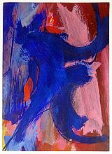Seymour Franks, American (1916-1981) Abstract Gouache on Paper. Signed. Minor Tears to Edges Otherwise Good Condition. Measures 24 Inches Tall and 17-1/4 Inches Wide. Shipping $48.00
