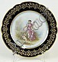 20th Century Sevres Style French Porcelain Portrait Plate